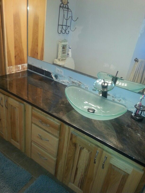 industrial kitchen backsplash cabinets on sale not bad for a 50$ countertop from plywood, spray paint and ...
