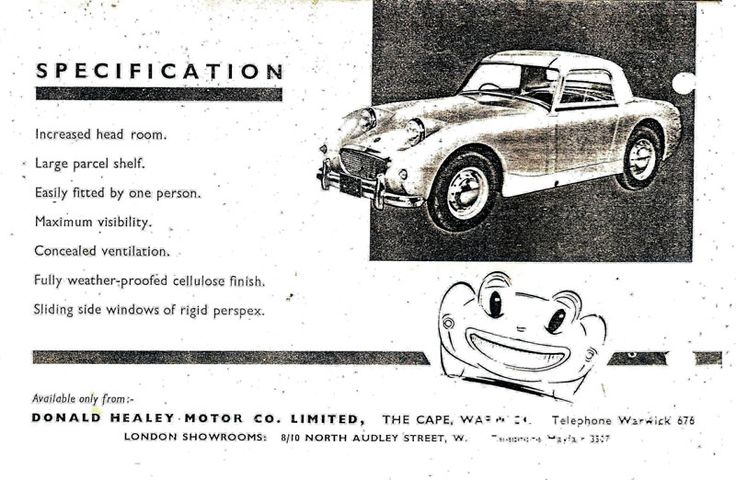 17 Best images about Austin Healey Sprite documents on