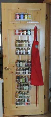 Spice rack on the back of my pantry door | Home ...