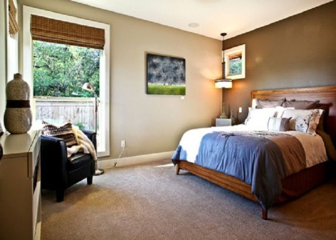 Neutral With Dark Accent Wall Color For Master Bedroom