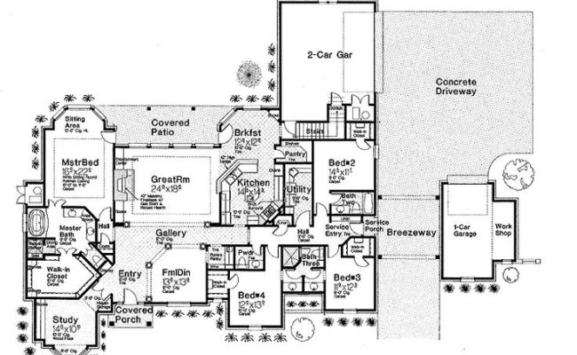 Floor Plans Aflfpw25667 1 Story French Country Home With