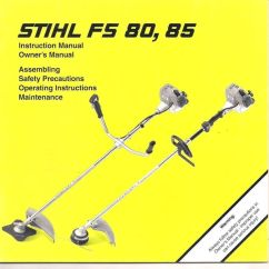 Stihl Fs 85 Trimmer Parts Diagram Basic Car Wiring Fs80 Fs85 Instruction Owners Assembly Maintenance Operating Safety Manual | And