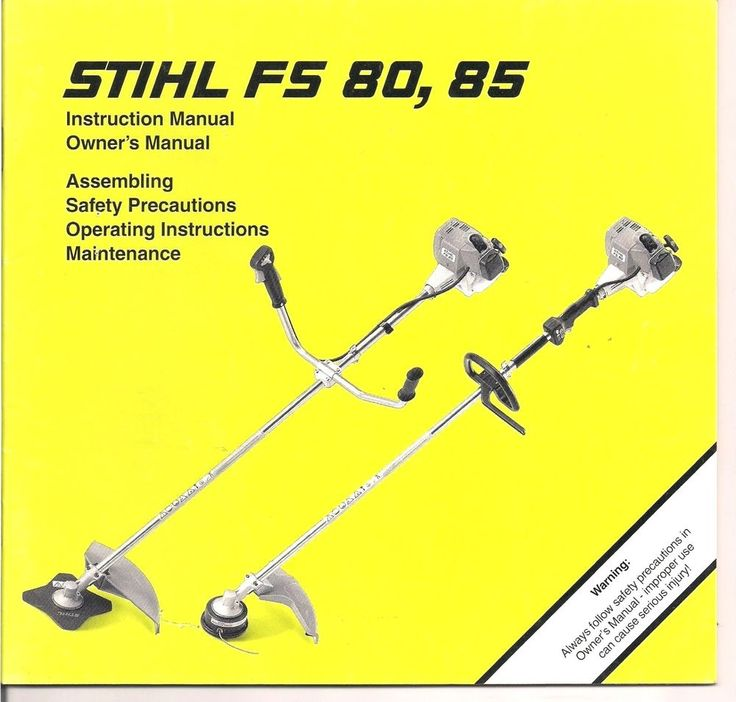 stihl fs 85 trimmer parts diagram pin 7 arduino fs80 fs85 instruction owners assembly maintenance operating safety manual   and