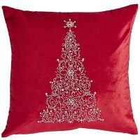 Red Beaded Tree Pillow-Pier One Imports | ChristMas Dcor ...