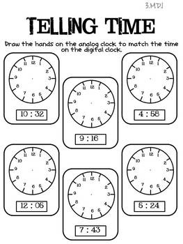 165 best images about MATH: TELLING TIME on Pinterest