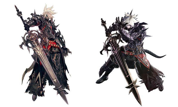 Au Ra Dark Knight Final Fantasy 14 Game Art Pinterest Dark Knight And Final Fantasy