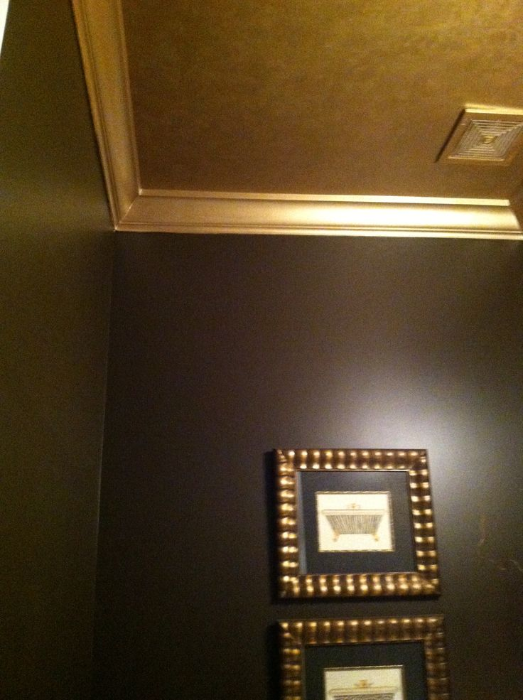Painted my guest bathroom ceiling and crown molding