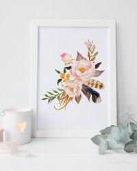 25+ best ideas about Floral wall art on Pinterest ...