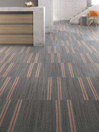 Mohawk carpet tile: #Denim's pattern Selvedge installed in ...