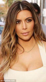 kim kardashian blonde hair glam