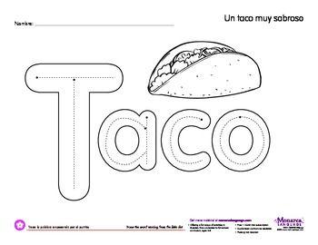 Worksheet: Taco (Cinco de mayo) free printable #free #