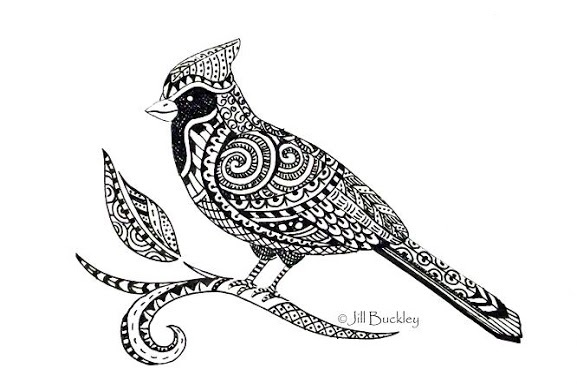 17 Best images about Zentangle Birds on Pinterest