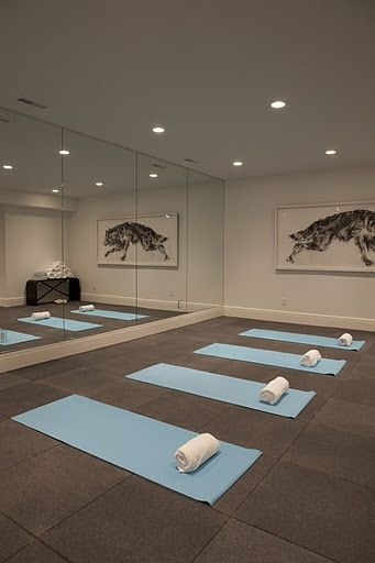 TURNING A ROOM IN THE HOUSE INTO A YOGA STUDIO  At home yoga turn dance studio LOVE Now the