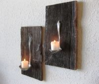 Reclaimed Barn Wood Salvaged Antique Metal Ladle Candle ...