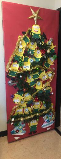 Christmas minion door decoration | Speech | Pinterest ...