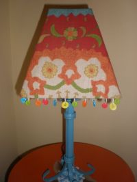 lamp with buttons for my craft room, inspired by a ...