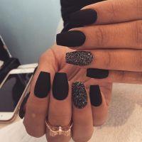 Best 25+ Matte Black Nails ideas on Pinterest | Matte ...