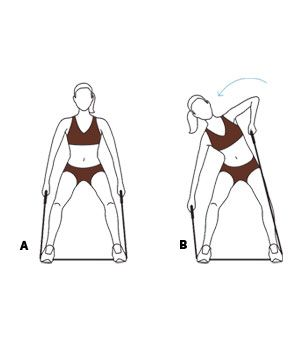 25+ best ideas about Stretch band exercises on Pinterest
