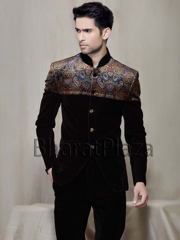 Pleasurable Velvet Jodhpuri Suit  Fashionista  Pinterest