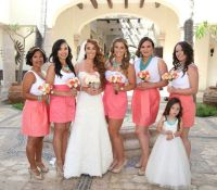 25+ best ideas about Coral Bridesmaid Skirts on Pinterest ...