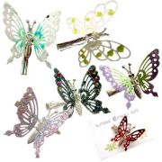 metal butterfly hair clips middle