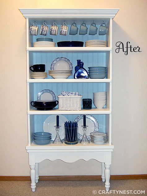 cheap ways to redo kitchen cabinets island table decorating ideas: turn an old bookcase into a fancy ...