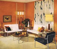 classic early 60's living room