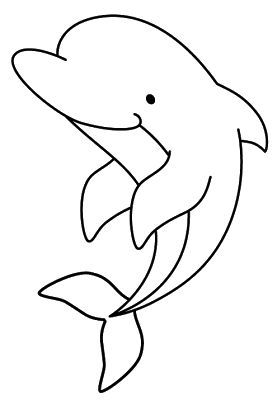 Dolphin- Onesie or burp cloth decorating template