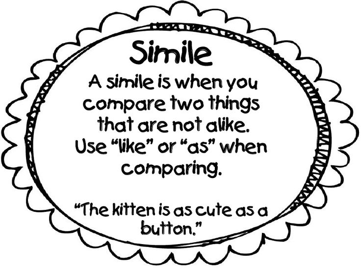 59 best images about similes and metaphors on Pinterest