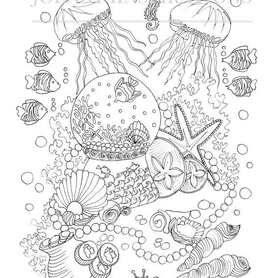 25+ best ideas about Ocean coloring pages on Pinterest