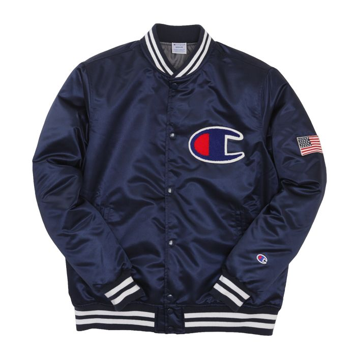 Champion Japan  Baseball Jacket Navy  Apparel  Pinterest  Baseball Baseball jackets and
