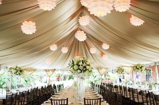 Tent Draping by All Party Rentals