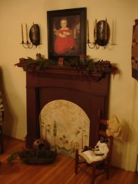 95 best images about Primitive Faux Fireplaces on