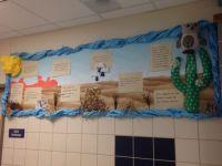 My desert bulletin board display. I posted desert fun ...