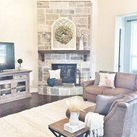 25+ best ideas about Corner Fireplace Decorating on