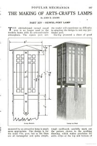 Mission Style Lamp Woodworking Plans