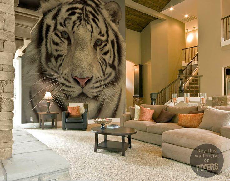 Animal Bedroom Wallpaper Tiger Wall Mural By Pixers Mural Pinterest Tigers
