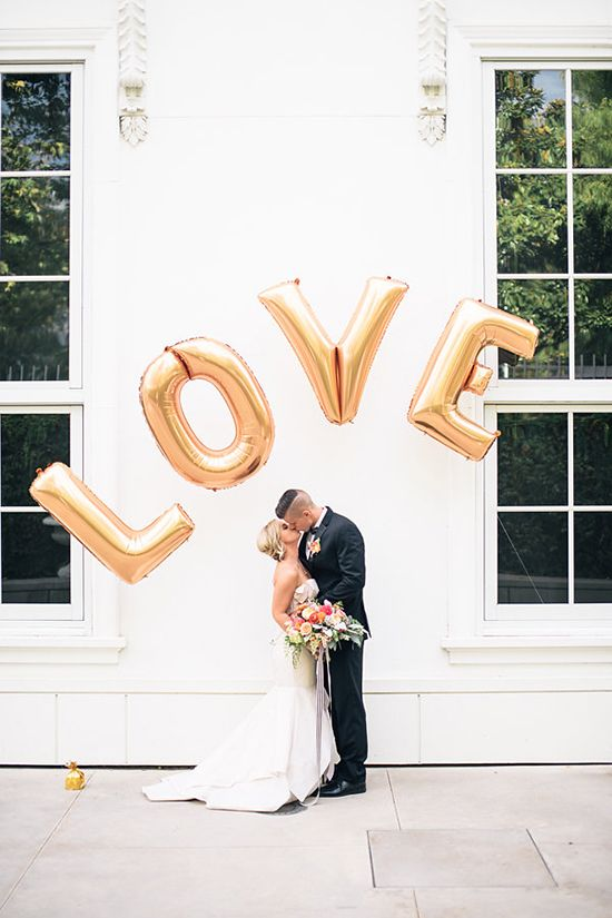 Love balloon arch #weddingideas @weddingchicks: