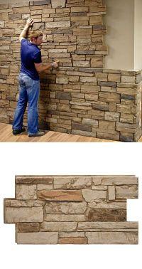 25+ best ideas about Faux Stone Panels on Pinterest | Faux ...