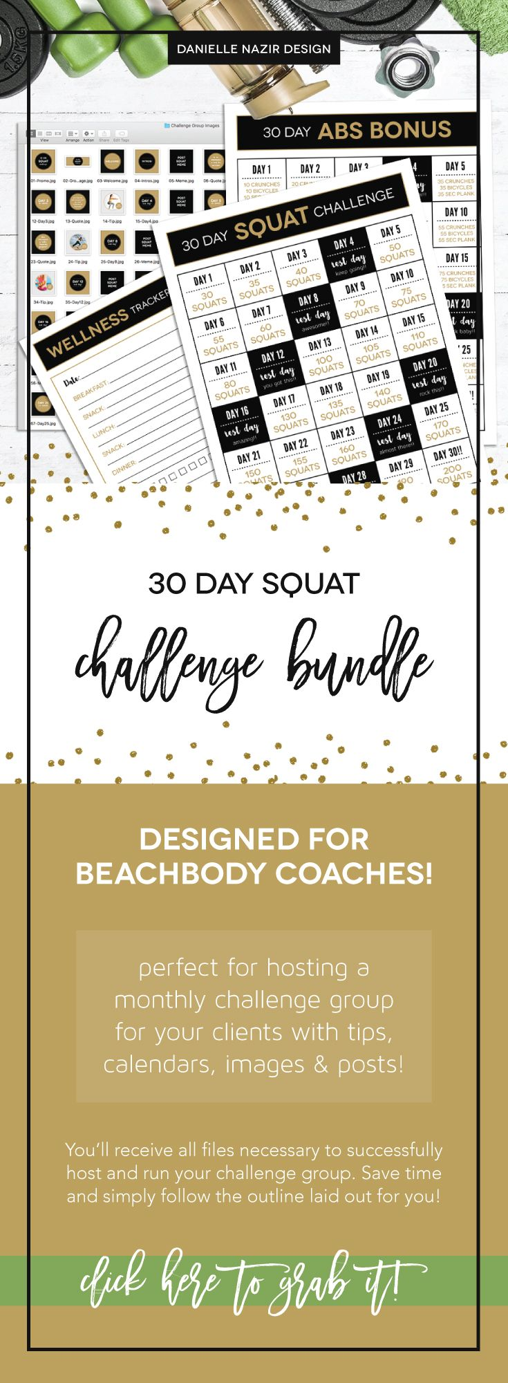 30 Day Squat Challenge Bundle Kit For Coaches! The Perfect Kit For Hosting  A Monthly