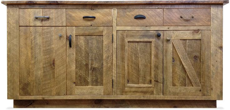 Reclaimed wood cabinets for the kitchen  reclaimed
