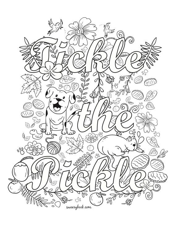 German Pickle Ornament Page Coloring Pages