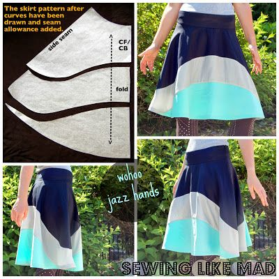 Sewing Like Mad: This is an adorable skirt.  Would love to try it out. Totally i
