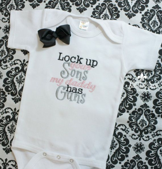 Girls Bodysuit or Shirt with Bow – Baby Shower Gifts – Kids – Creeper – Military