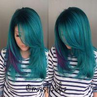 Aquamarine And Purple Hair Color   www.imgkid.com - The ...