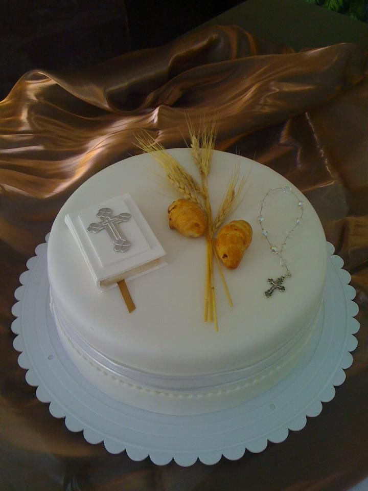 10 Best Images About Baptism Communion Cakes On Pinterest