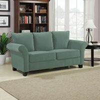 Handy Living Provant Turquoise Blue Velvet Sofa by Handy ...