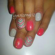 shellac gel nail design tropix