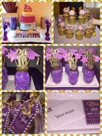 Purple and Gold Theme graduation party...for invitation
