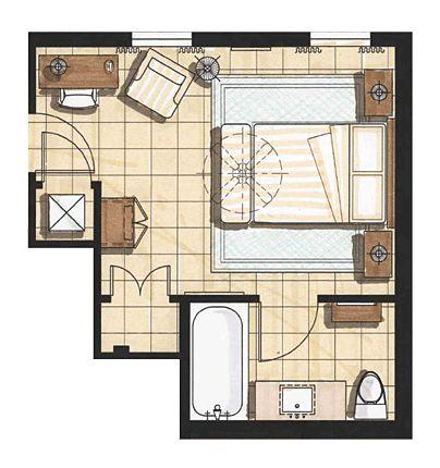 Master Bedroom Interior Plan Rendering Floor Plan